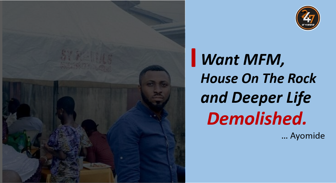 i want mfm, house on the rock, deeper life church demolished