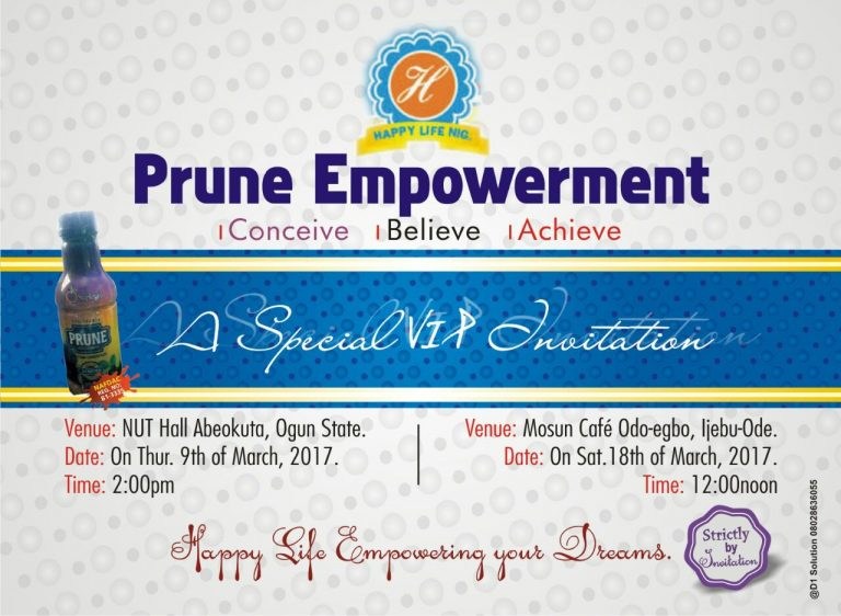 """#SponsoredAds : """"Be Financially Independent"""" With Prune Empowerment"""