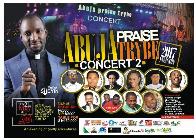 Win N200K As Plans Hit Top Gear For Abuja Praise Trybe Concert 2017 With Fada Sheyin! @FadaShey
