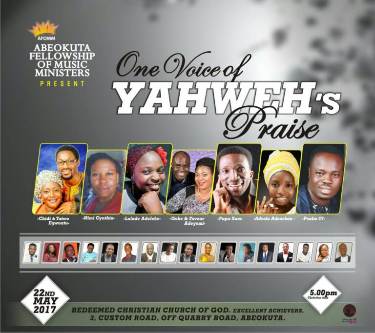 #Events : Abeokuta Fellowship Of Music Ministers Presents One Voice Of Yahweh's Praise