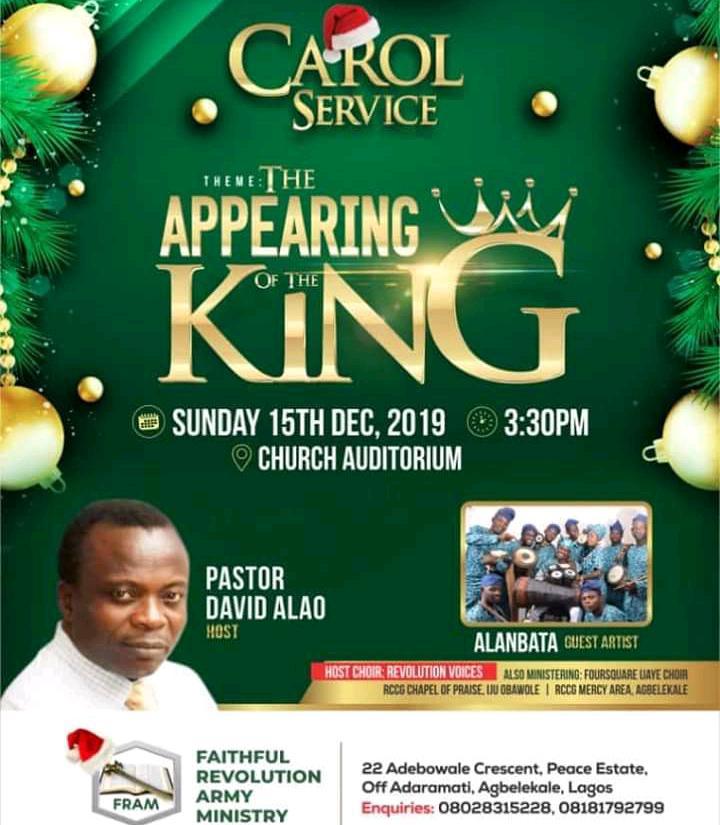 Event: Faithful Revolution Army Ministry Christmas Carol 2019   @fram_ng