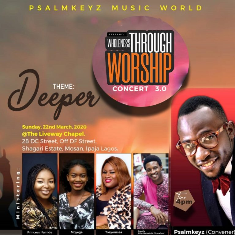 [Event]: Psalmkeyz Presents Wholeness Through Worship Concert 3.0