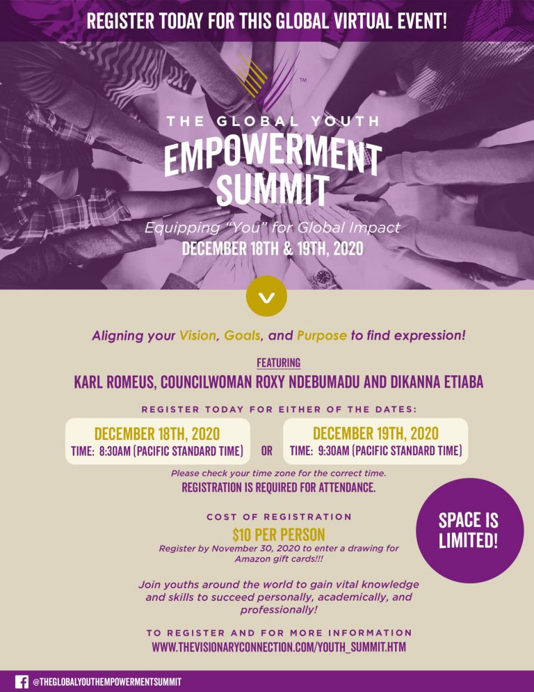 Karl Romeus, Councilwoman Roxy Ndebumadu, Other Keynote Speakers Set For The Global Youth Empowerment Virtual Summit | Dec. 18th & 19th