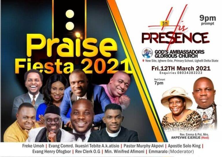 EVENT: Ughelli lights up with Praise Fiesta | March 12, 2021 (@thepraisefiesta)