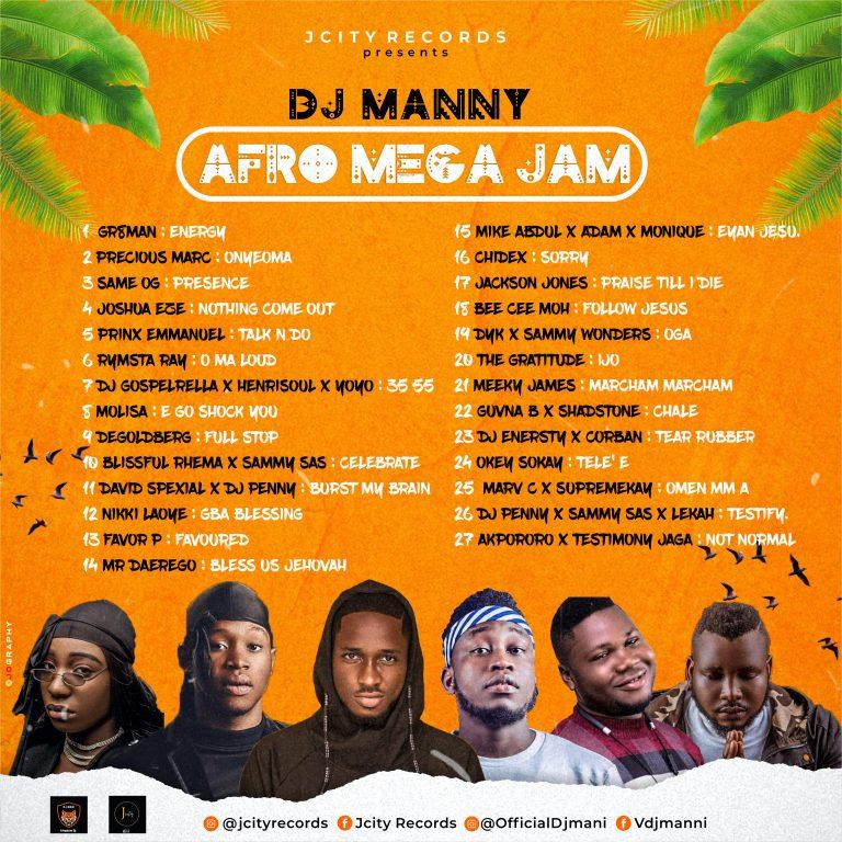 Mixtape: Afro Mega Jam – Dj Manny