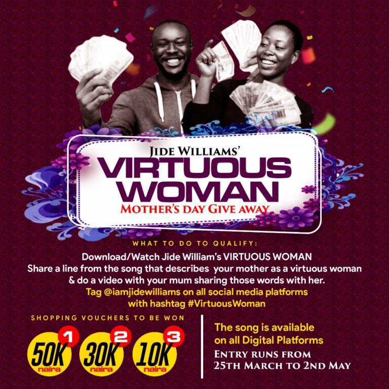 Jide Williams to give out over 100k voucher in celebration of International Mothers Day