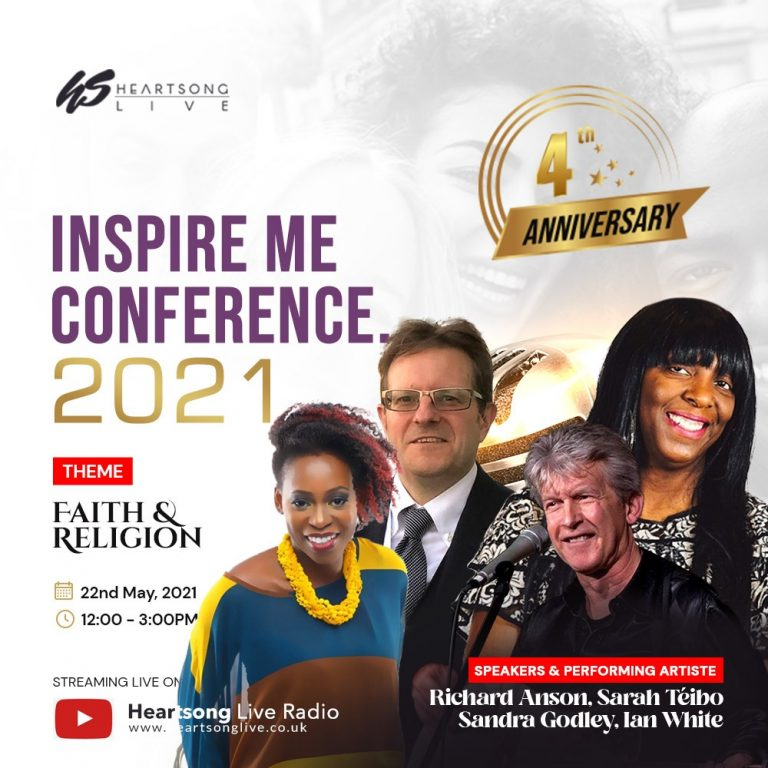 HeartsongLive set for Inspire Me Conference 2021 to mark 4th Anniversary | May 22, 2021